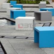 betonowe ławki/kształty